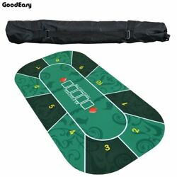 Deluxe Rubber Texas Hold'em Poker Tablecloth Casino Board Game Mat Accessory Set