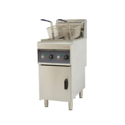 Electric Commercial Fryer Floor Standing Single Tanks 2 Baskets Brand New