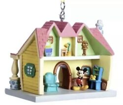 Disney World Parks Mickey Mouse Toon Town House Hand Painted Hanging Ornament