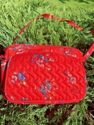 LUG WINGS SE BOUQUET RED Medium Crossbody By Luglife RFID Insulated Floral Bag $59.99