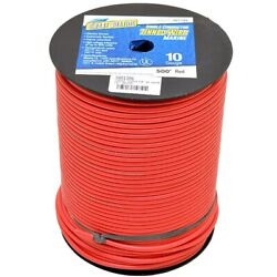 Smart Boat Wire 201785   500 Foot 10 Awg Red Tinned Copper Single