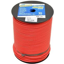 Smart Boat Wire 201785 | 500 Foot 10 Awg Red Tinned Copper Single