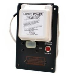 Marinco 16a 220v 50 Cycle Ip56 Shore Power Boat Inlet Switch Panel Cover