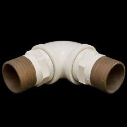 Ocean Yachts White Brass 90anddeg Elbow 4 Inch Marine Boat Pipe Fitting
