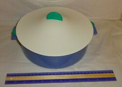 Tupperware Microsteamer Blue/green 3066a 3067a 3065a Pre-owned