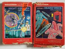 Intellivision Games In Box Lot Of 2 Tron Deadly Disks And Night Stalker 0 Ship