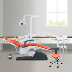 Integral Dental Unit Chair Computer Controlled B2 Hard Leather With Doctor Stool