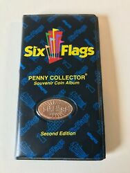 Six Flags Penny Collector Souvenir Coin Album Second Edition/ Full Of Coins