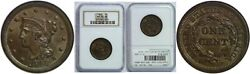 1848 Large Cent Ngc Ms-66 Bn