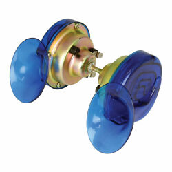 Bike It Motorcycle Motorbike 12v Snail Horn Blue - Twin Pack