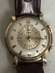 Jaeger Lecoultre Memovox Alarm Gold Filled Cal. 498/1 Vintage Watch