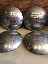 41 48 Chevrolet Dogdish Hubcaps Wheel Covers Center Caps Chevy Poverty Pickup