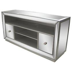 Best Master Jameson Solid Wood Tv Stand In Silver Antique Mirrored
