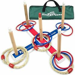 Ring Toss Games For Kids - Indoor Holiday Fun Or Outdoor Yard Game For Adults