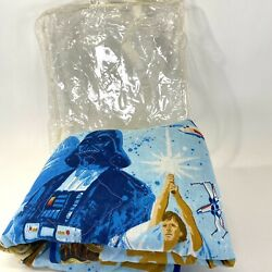 Vintage 1977 Star Wars 'space Fantasy' Beach Pad Bibb Company Top Fabric Quilted