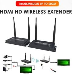 Wifi Hdmi 1080p Wireless 200m Extender Video Audio Transmitter Receiver With Ir