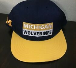 Michigan Wolverines Ncaa Vintage Snapback Hat Youth New Annco