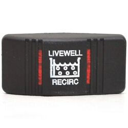 Carling Boat Rocker Switch Cover   Livewell Recirc Black Actuator