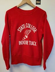 Vtg 50s State College Indoor Track Champion Reverse Weave Mens Sz Xs Gusset