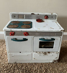 Little Lady Electric Toy Stove Oven By Empire No.232 Vintage 1950's Cream Works