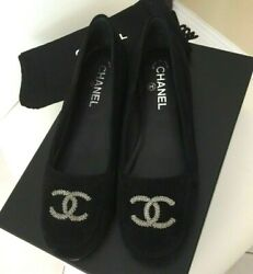 Bnib Black Kid Suede Loafers Shoes Flats Size 38 Sold Out
