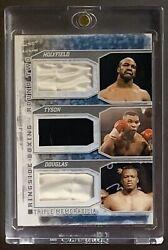 Mike Tyson / Evander Holyfield / Buster Douglas Fight Worm Trunks Boxing Card