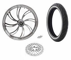 Polished Vortex 21 2.15 Front Wheel Tire Package Ww Abs Harley 08+ Softail Dyna