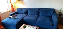 2 Pc Sectional Sofa With Chaise From Pottery Barn. Pick Up In Brooklyn Only