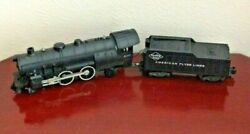 Vintage American Flyer Lines 21160 Reading Lines Locomotive And Tender. Sold As Is