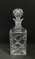 Vintage Signed St. Louis Crystal Whiskey Spirits Decanter Stopper Liquor 9.5andrdquot
