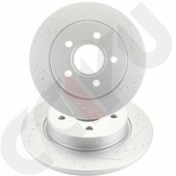 Rear Slotted Brake Discs Rotors Fits Ford Focus 2012 2013 14 15 16 17 2018