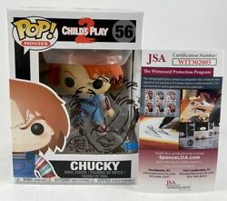 Tone Rodriguez Signed And Sketched Child's Play 2 Chucky Funko Pop 56 Jsa Coa
