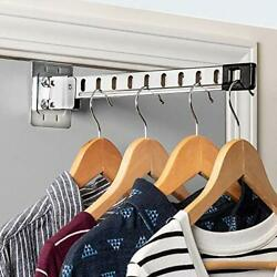 Honey-can-do Over-the-door Collapsible Clothes Hanger, Chrome