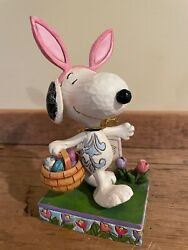Jim Shore Snoopy Happy Easter Beagle 4049398 With Original Tag  A+ Condition