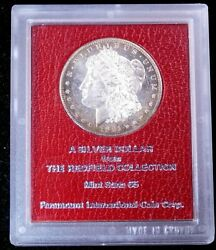 1891-s Morgan Silver Dollar Redfield Holder Mint State 65 Proof/cameo Like Ge327