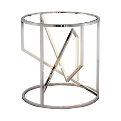 Et2 Contemporary Lighting E71005-pc Trapezoid End Or Side Table Polished Chrome