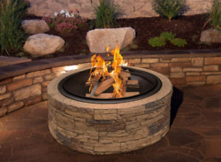 Free Shipping No Tools Needed Brand New 35 Round Cast Stone Fire Pit Firepit