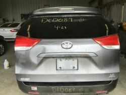 2011-2014 Toyota Sienna Trunk/hatch/tailgate Le W/back Up Camera Grey 2657806