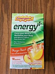 Emergen-c Energy Plus Fizzy Drink Mix Mango-peach 18 Packets Bb 2/2022