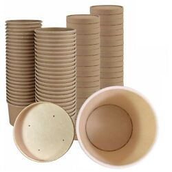 Soup Containers - 25 Pack Disposable Soup Bowls With Lids, Ice-cream Cups