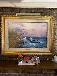 Beacon Of Hope 17x26 Gallery Proof G/p Thomas Kinkade Lithograph On Canvas
