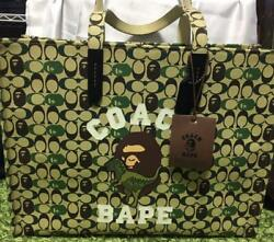 A Bathing Ape Coach Collaboration Tote Bag Ladies Camorfrage Unused F/s From Jpn