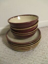 Pier 1 Crackle Collection Dinner Plates And Bowls Set Of 9