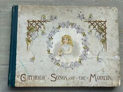 Rare Antique Childrens Book Catholic Songs Of The Months Verses And Pictures 1895