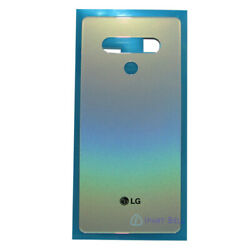Silver For LG Stylo 6 Q730 Rear Battery Glass Cover Back Housing Door IP68 Tape $12.99