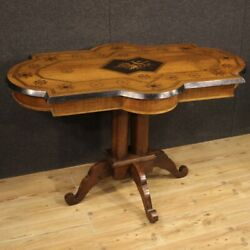 Table Furniture Antique Living Room In Inlaid Wood 800 19th Century