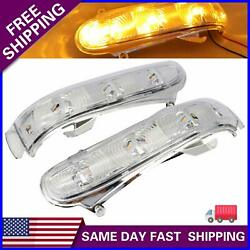 1 Pair For Mercedes Benz W220 W215 S/cl Led Side Mirror Turn Signal Light Amber