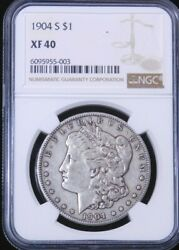 1904-s Morgan Silver Dollar Ngc Xf40 Some Luster, Pq Just Graded Ge318