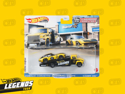 2021 Hot Wheels Legends Tour Team Transport Corvette Carry On In Hand Fast Ship