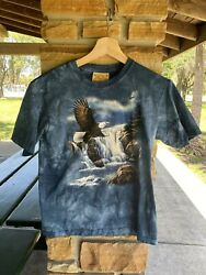 Vintage Kids The Mountain Flying Eagle Graphic T Shirt Size Large